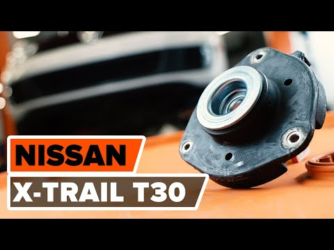 How to replace strut mount  NISSAN X-TRAIL T30 TUTORIAL | AUTODOC