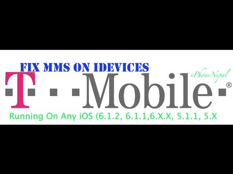How To Fix T-mobile MMS On iOS 6.1.2/6.1.1/6.0/5.1.1 iPhone 5/4S/4/3Gs/3G - Get Picture Messaging
