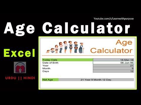 VERY SIMPLE formula to Calculate Age in Excel     Learn  Date Formulas in Excel    Urdu Hindi