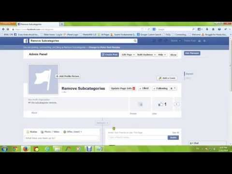 Remove Facebook  fan Page Sub - Categories