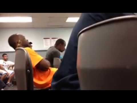 Guy falling asleep during a meeting