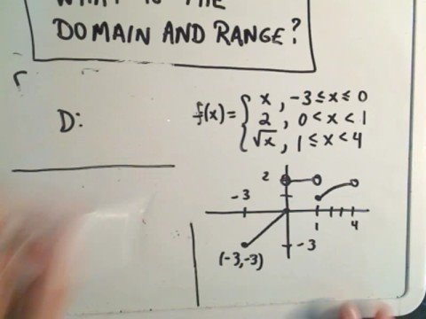 Finding the Domain and Range of a Piecewise Function