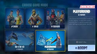 NEW FORTNITE UPDATE OUT NOW! PLAYGROUND LTM IS BACK! (FORTNITE BATTLE ROYALE)