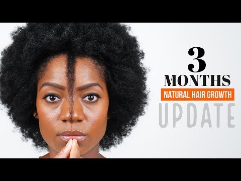 3 Months Natural Hair Growth (Length Check) (Hair Update) (July 2017)