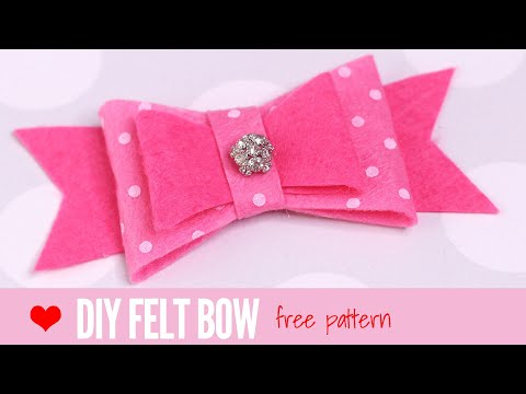 Felt Bow Template | DIY Hair Acessories | Felt Crafts | Making Bows