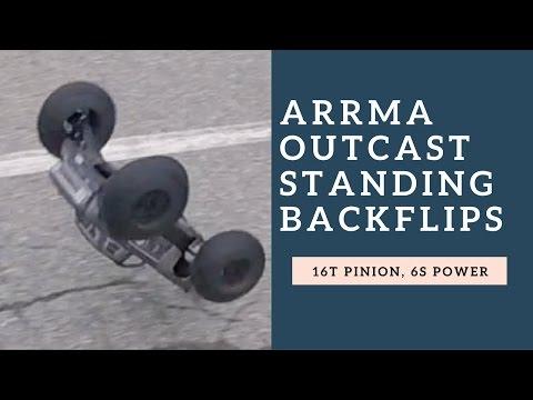 ARRMA OutCast Standing Backflips - RC Stunt Car Backflips - Driftomaniacs