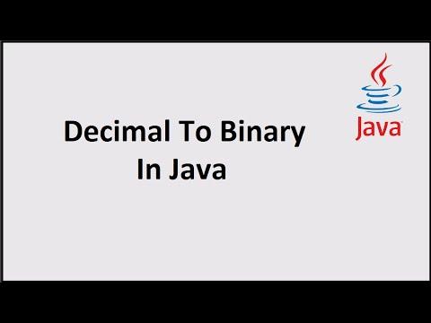 Decimal To Binary Conversion In Java