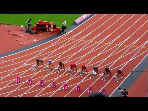 London 2012 Olympics Womens 100m semi final
