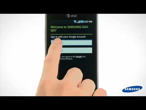 Galaxy S Captivate - How to Sign into Your Google Account