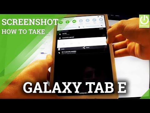 How to Take a Screenshot on SAMSUNG Galaxy Tab E