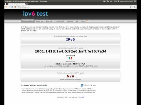 My first connection to an IPv6-only network