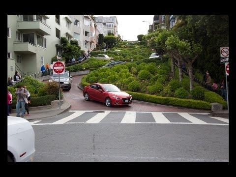 Lombard Street - Steep Drive down - San Francisco CA. HD