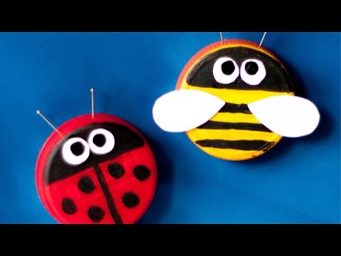How To Make Adorable Plastic Bottle Cap Buddies - DIY Crafts Tutorial - Guidecentral