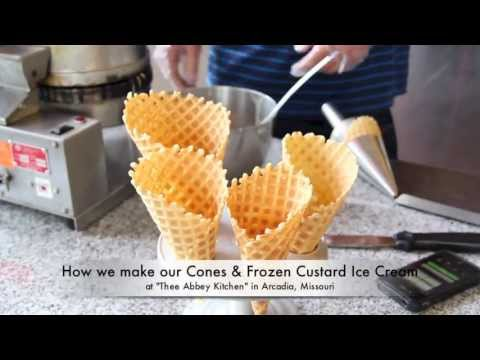 How we make our Frozen Custard Ice Cream & Waffle Cones at Arcadia Academy's