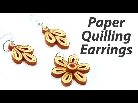 Quilling Earrings - Paper Quilling Jhumkas DIY Jewelry