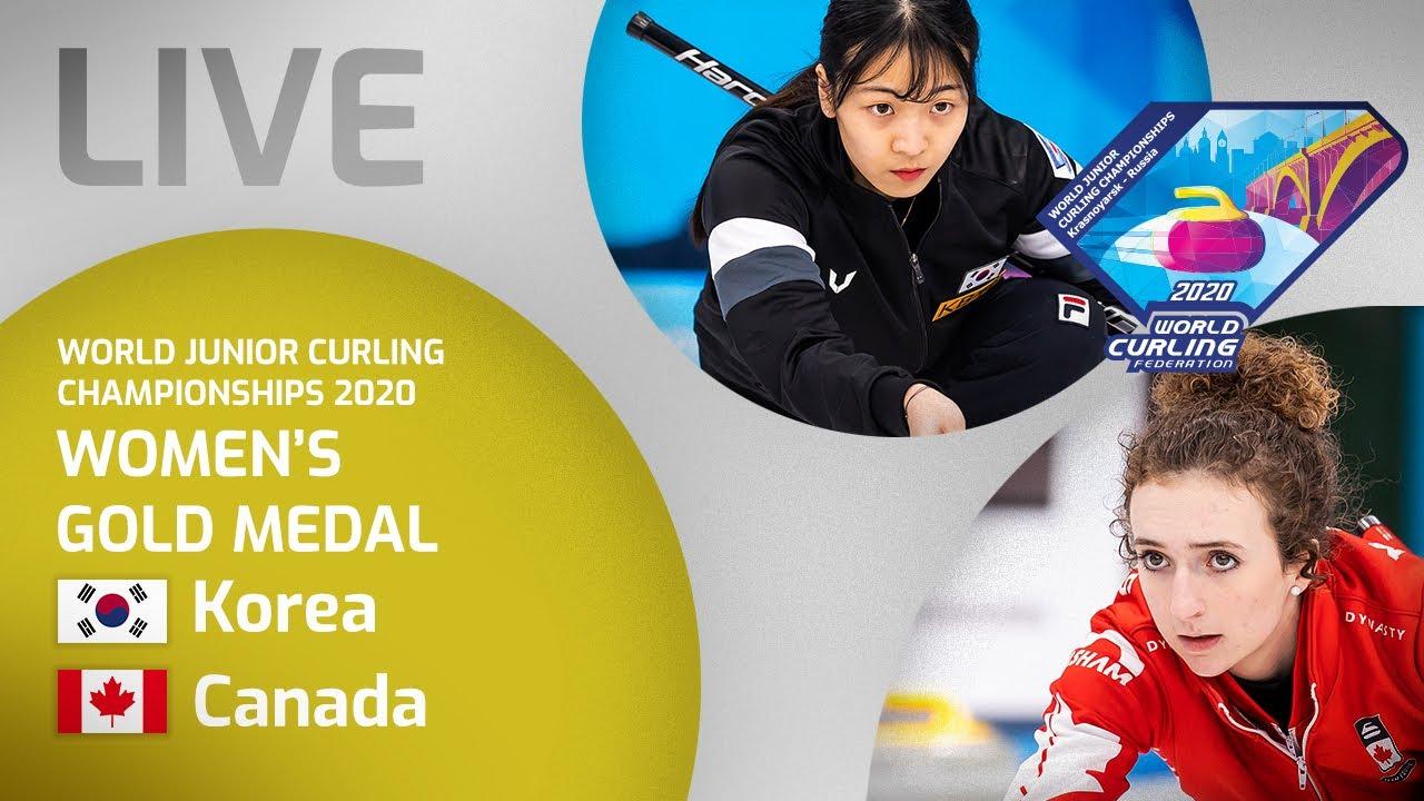 Korea v Canada - Women's gold medal - World Junior Curling Championships 2020