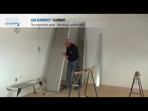 LUX ELEMENTS Installation: The construction panel ELEMENT as partition wall or room divider