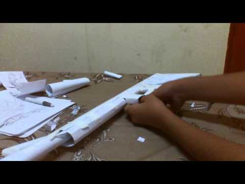 How to make a paper M-16 A 2 part 4