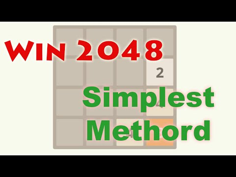 Simplest Trick to Win 2048 Game