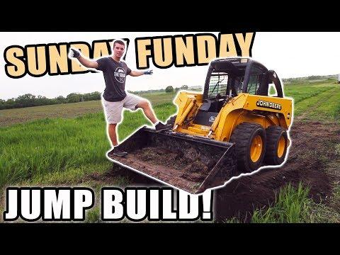NEW DIRT BIKE JUMP + SKID LOADER WORK | SUNDAY FUNDAY