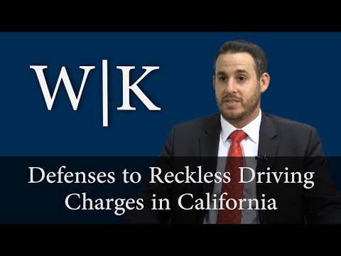 Defenses to Reckless Driving Charges in California