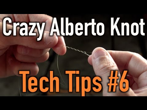 How to Tie Braided Line to Flurocarbon OR Monofilament: Crazy Alberto Knot
