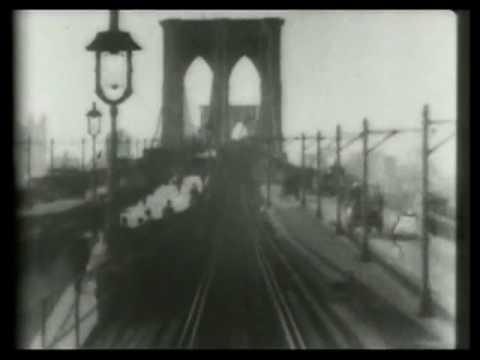 Brooklyn Bridge Trolley Crossing, 1899 - Edison Studios