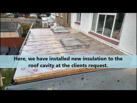 Replacement of a felt roof by Proplas Fibreglass Roofing, 2016