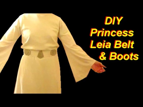 Princess Leia Costume Tutorial Part 3: Belt and Boots