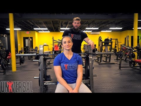 Universal Exercise Bench with Jordan & Michelle