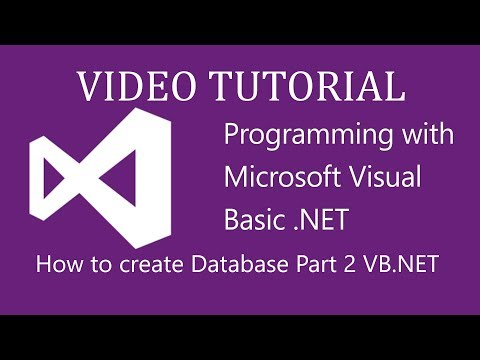 How to make databases in vb.net 2010 - Part 2