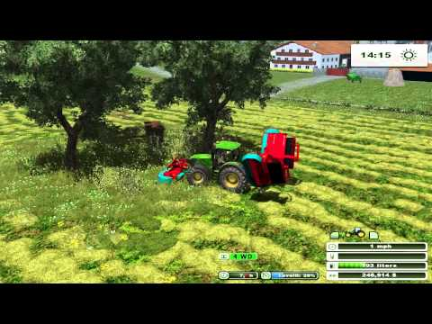 farming simulator 2013 Making hay on two rivers map pt 20
