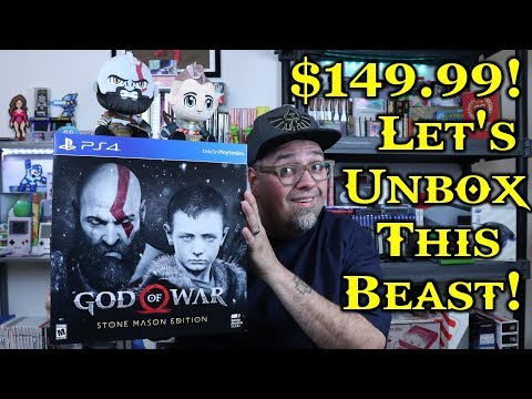 $150 Of Awesomeness? God Of War Stone Mason Edition Unboxing! Was It Worth It?