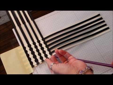 Paper Weave Scrapbook technique
