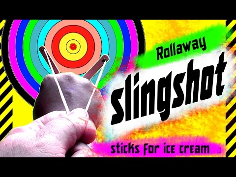 ✔ How to make a slingshot rollaway of sticks for ice cream Weapons bully. Strong beats is easy hide