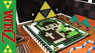 The Legend of Zelda: 8-Bit Link (IN 21,981 DOMINOES!)