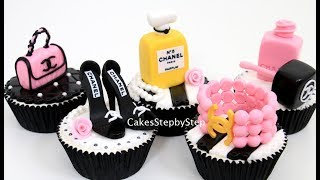 CHANEL Fashion CUPCAKES   How To Make by Cakes StepbyStep