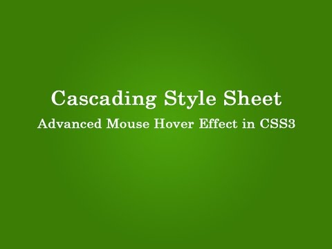 advance hover effect with css3