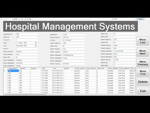How to Create Hospital Management System with Embedded Database in C#