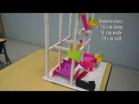 Competitive STEM Roller Coaster Kit demo