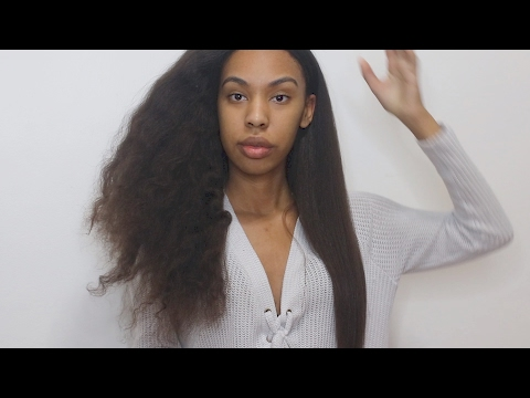 Easiest way to Straighten Natural Hair!