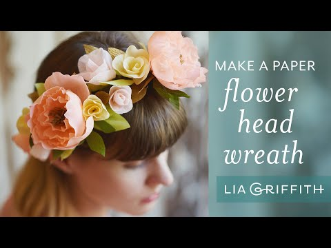 How To Make a Paper Flower Head Wreath