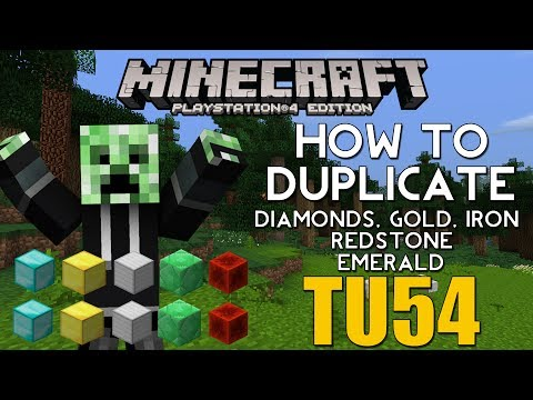 PS4/XBOX ONE Minecraft TITLE UPDATE 54 HOW TO DUPLICATE DIAMONDS, REDSTONE, GOLD, IRON, EMERALD