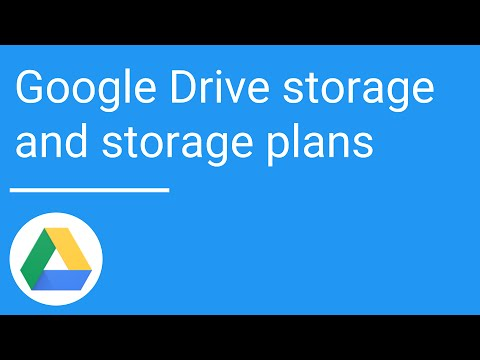 Google Drive: Storage and storage plans