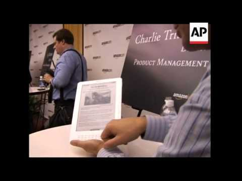 Unveiling of big-screen version of Kindle for newspapers, magazines