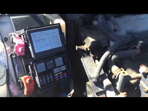 2000-2005 Chevy Impala Fuse Box Location Under Hood