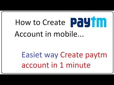 how to create paytm account in mobile