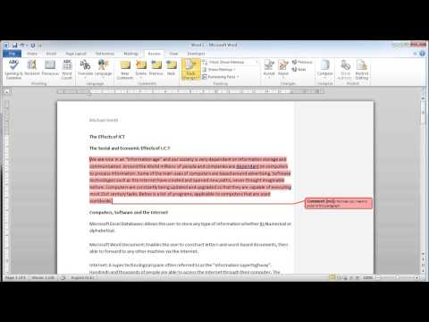 Microsoft Word 2010 - Review (Comment & Track)