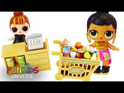 LOL Surprise Dolls Go Shopping in Shopkins Store + Surprise Blind Bags!