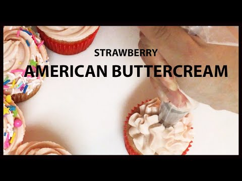Easy Strawberry American Buttercream Recipe: Perfect Cupcake/Cake Piping Consistency
